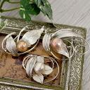 てらてら design choose from large Freshwater Pearl brooch oversized metallic natural color Pearl!