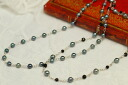 6 mm/7 is a chic and subtle necklace mm Akoya pearl necklace crisp and beautiful blue black
