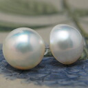 Oversized 15 ミリマベ pearl earrings, earrings
