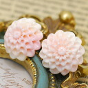 Conch shell dahlia piercings and earrings soft pink feminine flower carving dahlia!