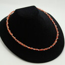 The coral of a good color of two Wataru Hu coral necklace skin familiarity to daily casual clothes