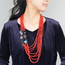 Red x blacklayerdonecklace Jala! and BIC camera in the gorgeous necklace