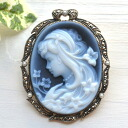 Rokuzan cameo brooch Pendant 1 point as far as
