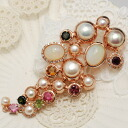Only one point Opal & Freshwater Pearl brooch pendant Uru Opal teriteri kirakiratolmarin Pearl studded with gorgeous shine!