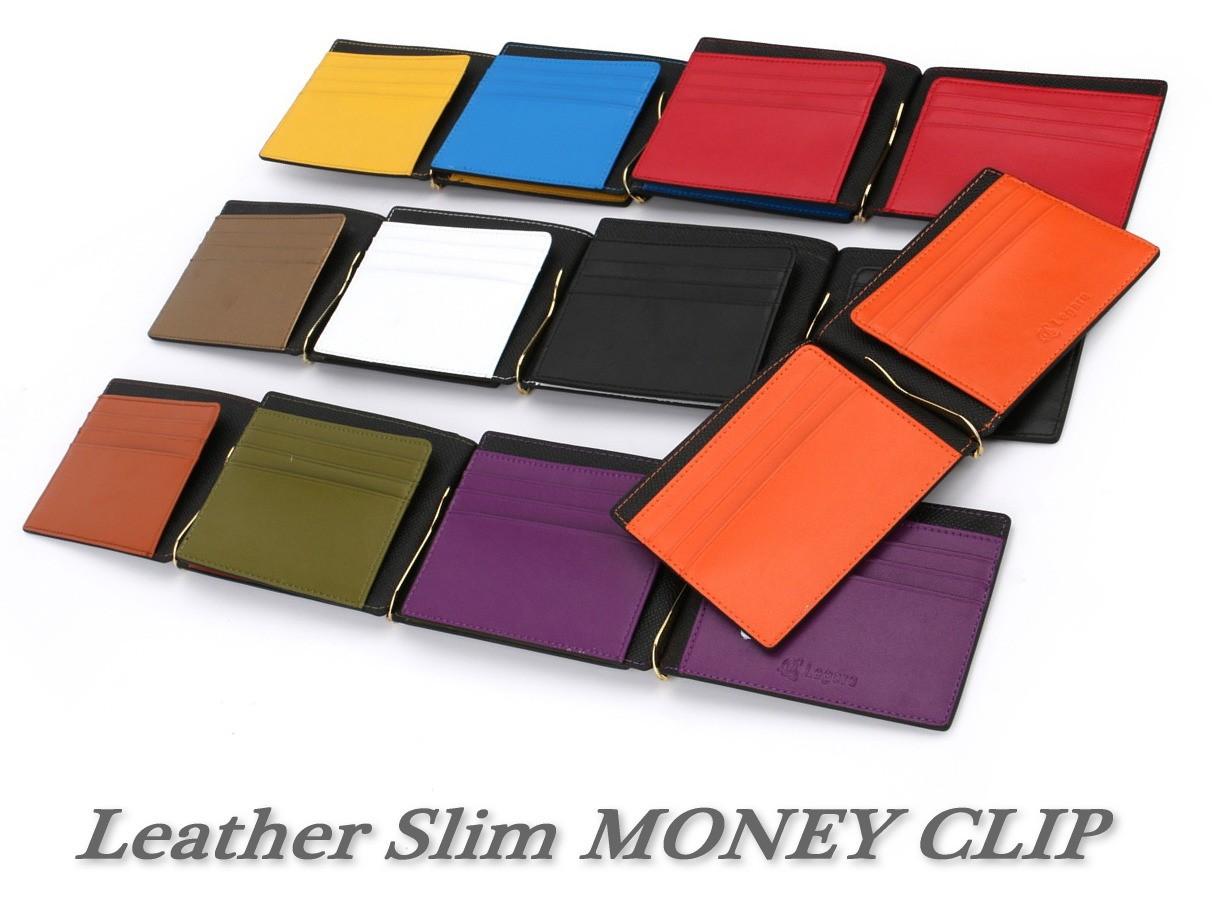 Leather Slim MONEY CLIP
