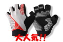 "Half finger cycle glove 《 LGO 》 comfort, and realize low price""! Gloves for bicycles"