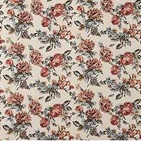 上品で華やかな花柄模様のクッションファブリックです。(コットンレーヨン100%)