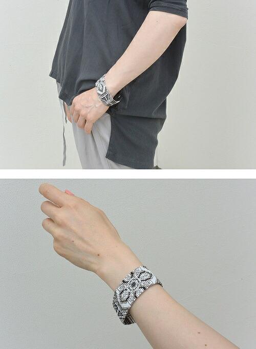 CHAN LUU(チャンルー) フラワーパターンカフブレスレット(メンズ)【全2色】