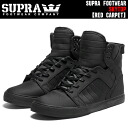 "SUPRA SKYTOP ""Red Carpet Series"" Black Satin TUFS18187"