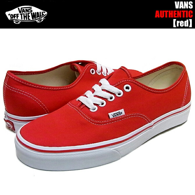 vans authentic red sale