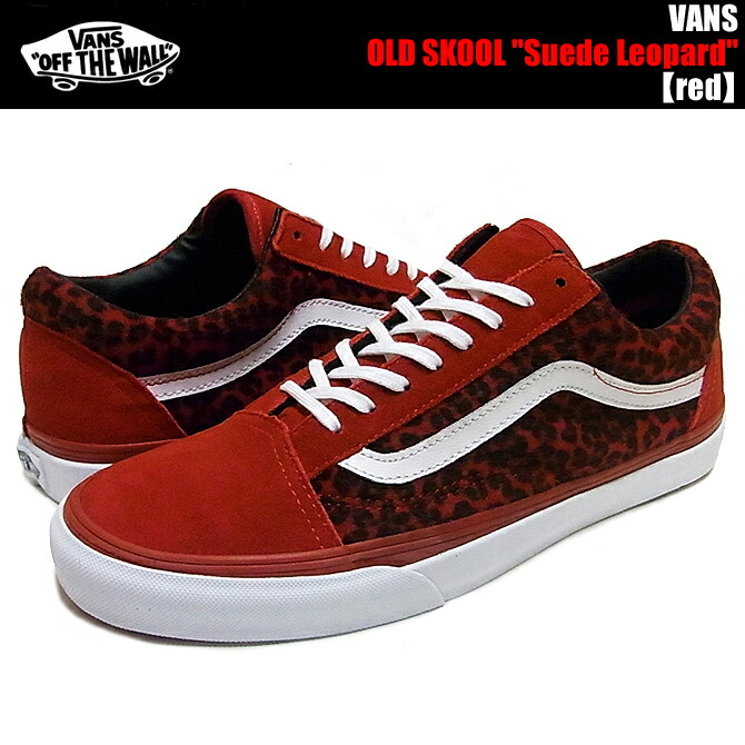 vans old skool leopard red