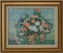 Pink and white rose van Gogh