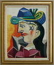 Picasso woman in blue hat
