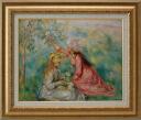 Flower girl pluck two people Renoir