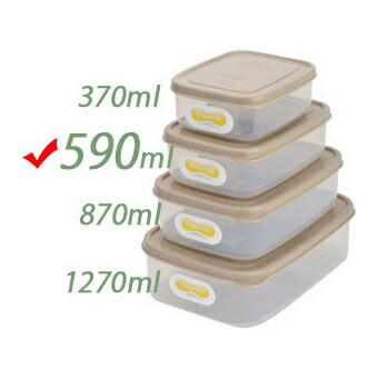Embalance Container Square 590ml