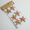 Straw star ornament 6 pieces set all points up! P27Mar15