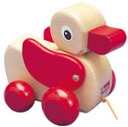 Plain wood duck pulling cars popular product 10P01Sep13