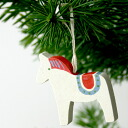 The Christmas: Christmas] Ornament Dalarna horse called SPL happy