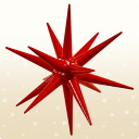 Red Star of Bethlehem wooden ornaments: large 10P01Sep13