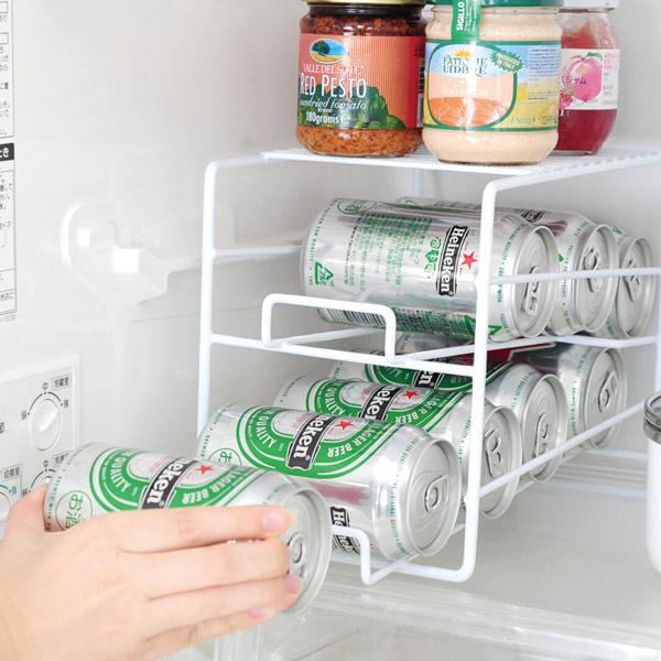 収納棚 缶ディスペンサー 冷蔵庫内収納