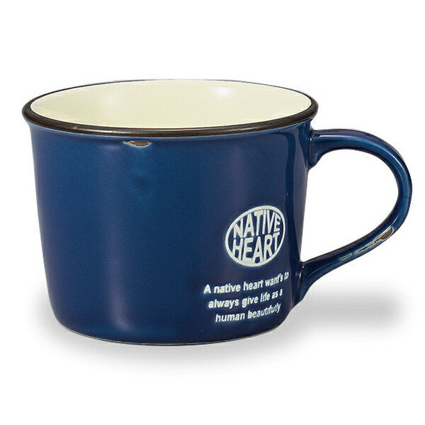 livingut rakuten global market mug native heart enamel style vintage mug cup with drawstring. Black Bedroom Furniture Sets. Home Design Ideas