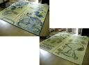 Mickey Mouse Snoopy rug overlay mats mats or grass Lee grass rush roads Goza Japanese carpet about 191 × 191 2 tatami baby and kids room. Power-saving Disney and delivered approximately one week