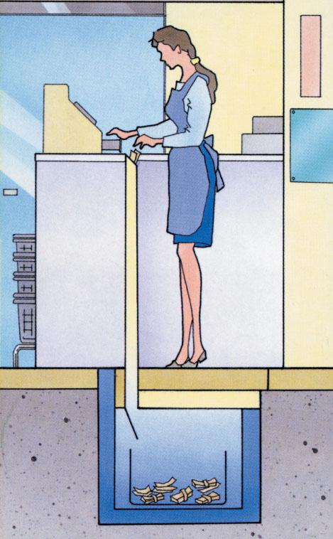 【EIKO】床下金庫用 投入ポスト  [USK-100 対応]<br> 扉を開けずに立ったまま簡単入金!【TD】