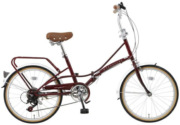 FBC206BR(ブラウン)TOPONE(トップワン)20インチ折りたたみ自転車