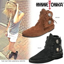 MINNETONKA Minnetonka two Button Boots suede two-button short boots 442 449