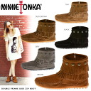 692 693 Mine Tonka MINNETONKA Doble Fringe Side Zip Boot double fringe side zip boots shoes 691t 697t 699
