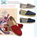 Toms Shoes Thoms shoes University Women's Classics Lady's classical music campus slip-ons ropes Tom's