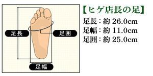 ヒゲ店長の足のサイズ