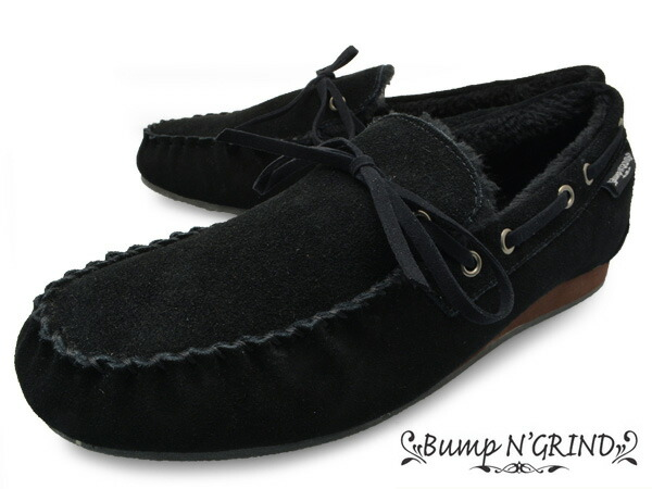 Bump N' GRIND �Х�� ����� ���饤��� 2110 ��� �⥫���� ���塼�� �ܳ� �������ɡ��� MENS MOCASIN SHOES SUEDE �� �֥�å� BLACK �֥���