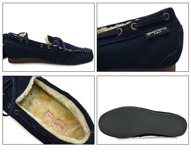 Bump N' GRIND バンプ アンド グラインド 2110 メンズ モカシン シューズ 本革 スエード 靴 MENS MOCASIN SHOES SUEDE 紺 ネイビー NAVY ブランド