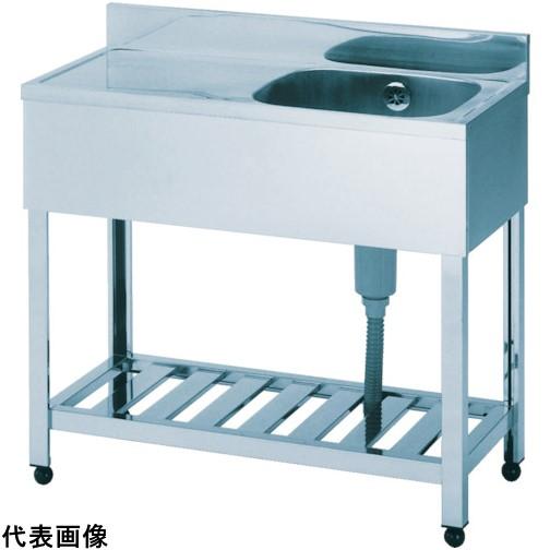 アズマ 一槽水切シンク右水槽 1500×600×800 [HPM11500R]