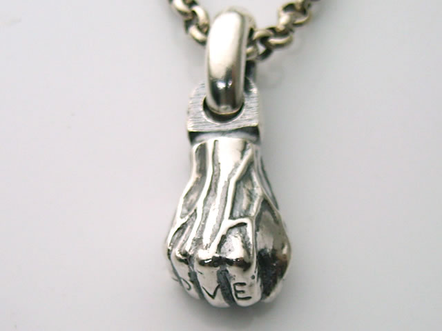Fist pendant top with tattoo LOVE