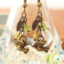 ★ antique bird ★ earrings & earrings