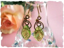 Leaves round and round earrings & earrings