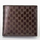 GUCCI Gucci 146223 AVP1R2019 micro guccissima two bi-fold wallet