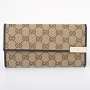 291099 9643 GUCCI gucci FAFXG GG canvas logo plates long wallet