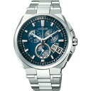 CITIZEN citizen BY0040-51L atessa eco-drive radio clock world time mens