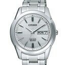 Citizen EBG74-2921 エクシードエコドライブ radio time signal silver clockface men