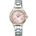 Citizen NA15-1732D ウィッカソーラー radio time signal pink lady