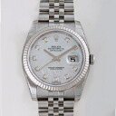 ROLEX Rolex Datejust 116234 new. NG white shell men's