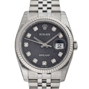 ROLEX Rolex Datejust 116234 new. G Black computer memory men's