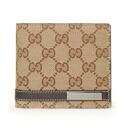 GUCCI Gucci 233102 FAFXR 9643 GG canvas two bi-fold wallet
