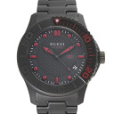 GUCCI Gucci YA126230 # 126 G timeless black mens