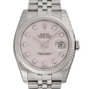 ROLEX Rolex date just 116234NG pink shell men