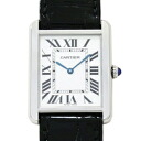 Cartier Cartier W5200003 tank solo LM silver black leather belt men