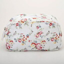 350730 Cath Kidston Cath Kidston Cosmetic Bag BLEACHERD FLOWERS WHITE makeup porches